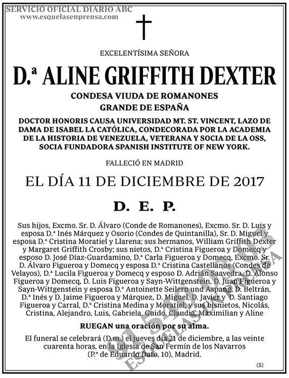 Aline Griffith Dexter